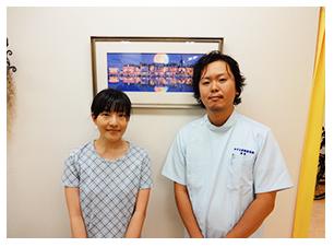 小野清華様 20代 女性 会社員 瑞江在住 (腰痛・肩こりでお悩みの患者様)